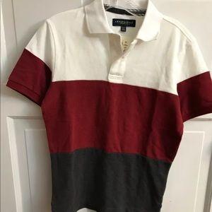 Aeropostale Striped Short Sleeve Polo Shirt Sz XS